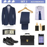 Vector Male Accessories Set 3 Stock Photography