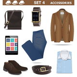 Vector Male Accessories Set 4 Stock Photography