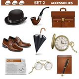 Vector Male Accessories Set 2 Royalty Free Stock Images