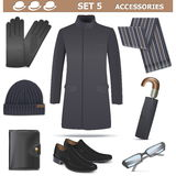 Vector Male Accessories Set 5. On white background Royalty Free Stock Photos