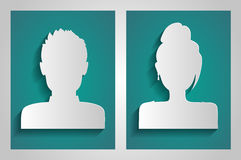 Vector male and female avatars. Stock Image