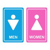 Vector Male and female WC icon Stock Photo