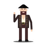Vector male pirate in flat style Stock Image