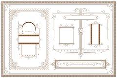 Vector Malplaatje Reclame, vlieger, Web, huwelijk en andere uitnodigingen of groetkaarten royalty-vrije illustratie