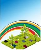 Vector malplaatje van een Milieubescherming Stock Foto's