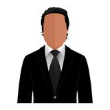 Vector man in a black suit Royalty Free Stock Photo