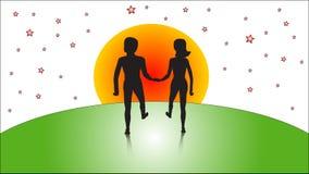 Vector man en vrouw Stock Afbeeldingen