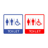 Vector man and lady toilet, Illustration EPS10 Royalty Free Stock Images
