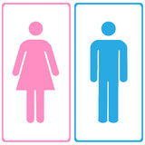 Vector a man and a lady toilet sign, Illustration EPS10 Royalty Free Stock Photography