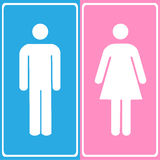 Vector a man and a lady toilet sign, Illustration EPS10 Stock Photo