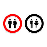 Vector a man and a lady toilet sign, Illustration EPS10 Stock Images