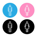 Vector a man and a lady toilet sign, Illustration EPS10 Royalty Free Stock Photo