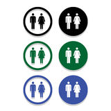 Vector a man and a lady toilet sign, Illustration EPS10 Royalty Free Stock Photos