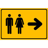 Vector a man and a lady toilet sign, Illustration EPS10 Stock Photography