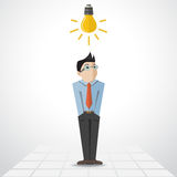 Vector man with lamp Stock Images