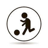 Vector man playing ball. Soccer player. Royalty Free Stock Photo