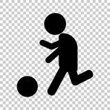 Vector man playing ball. Soccer player. Football player. Vector icon man playing ball. Soccer player. Football player Royalty Free Stock Photos