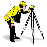 Vector man surveying. A  image of a man surveying Royalty Free Stock Photography