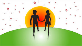 Vector man and woman Stock Images