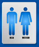 Vector Man and Woman icon Royalty Free Stock Photos