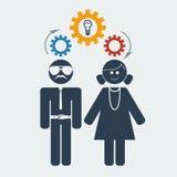 Vector man woman idea. File format eps 10 Royalty Free Stock Photos