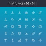 Vector Management Line Icons Stock Image