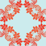 Vector mandala. Abstract vector floral ornamental border. Lace p Royalty Free Stock Photos