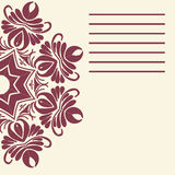 Vector mandala. Abstract vector floral ornamental border. Lace p Stock Photo