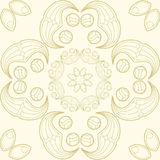 Vector mandala. Abstract vector floral ornamental border. Lace p Stock Photos