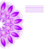 Vector mandala. Abstract vector floral ornamental border. Lace pattern design. Vector ornamental border frame. Can be used for, ca Royalty Free Stock Image