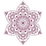 Vector mandala, arabian and indian ornament Royalty Free Stock Photos