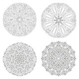 Vector mandala collection. Circular symmetrical pattern. Coloring for adults vector illustration