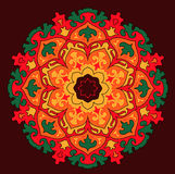 Vector mandala colorful sun. Vector arabic asian indian mandala colorful sun Royalty Free Stock Photography