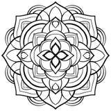 Vector mandala for coloring book. Stock Image