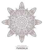 Vector mandala for coloring with ethnic decorative elements. Royalty Free Stock Image
