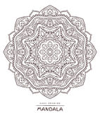 Vector mandala for coloring with ethnic decorative elements. Stock Photos