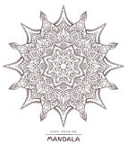 Vector mandala for coloring with ethnic decorative elements. Royalty Free Stock Photo