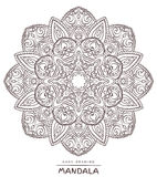 Vector mandala for coloring with ethnic decorative elements. Stock Photography