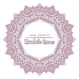 Vector mandala for coloring with floral decorative elements. Royalty Free Stock Image