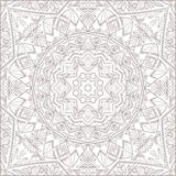Vector mandala for coloring with floral decorative elements. Stock Image