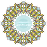 Vector mandala for coloring with floral decorative elements. Stock Images