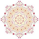Vector Mandala Design. Hexagonal illustration, kaleidoscope Stock Photo