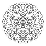 Vector mandala drawn with black lines Royalty Free Stock Photos