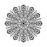 Vector mandala. Floral circular ornament with ethnic motifs