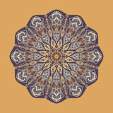 Vector mandala. Floral circular ornament with ethnic motifs Royalty Free Stock Photography