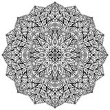 Vector mandala with floral ornaments Stock Photography