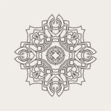 Vector mandala. Gothic lace tattoo. Celtic weave with sharp corners. Royalty Free Stock Photography