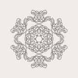 Vector mandala. Gothic lace tattoo. Celtic weave with sharp corners. Royalty Free Stock Images