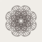 Vector mandala. Gothic lace tattoo. Celtic weave with sharp corners. Stock Photography