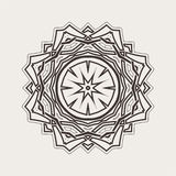 Vector mandala. Gothic lace tattoo. Celtic weave with sharp corners. Royalty Free Stock Photo